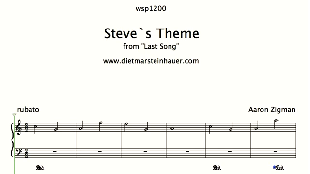 """Steve's Theme  –  from """"Last Song"""" with Miley Cyrus"""