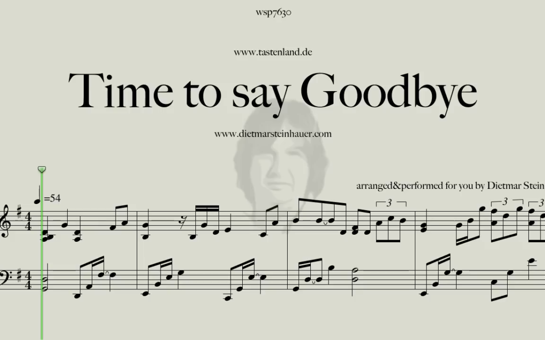 Time to say goodbye  –  Andrea Bocelli