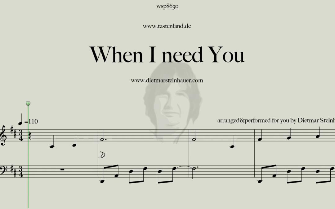 When I need You  –  Leo Sayer