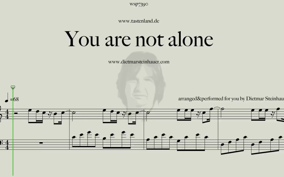 You are not alone  –  Michael Jackson