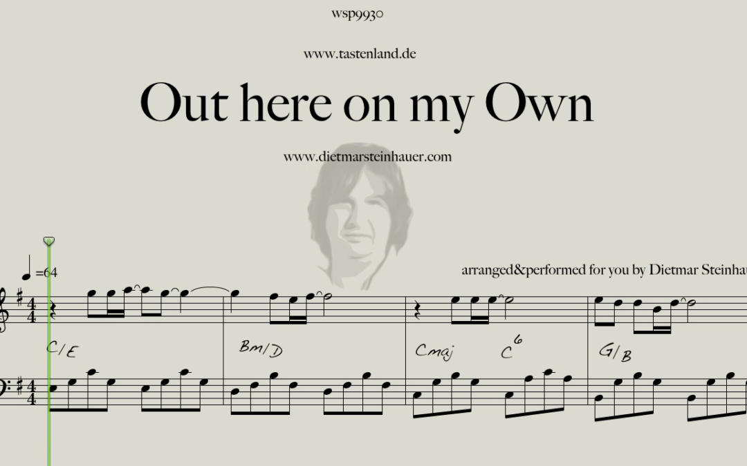 Out here on my Own  –  Easy Piano