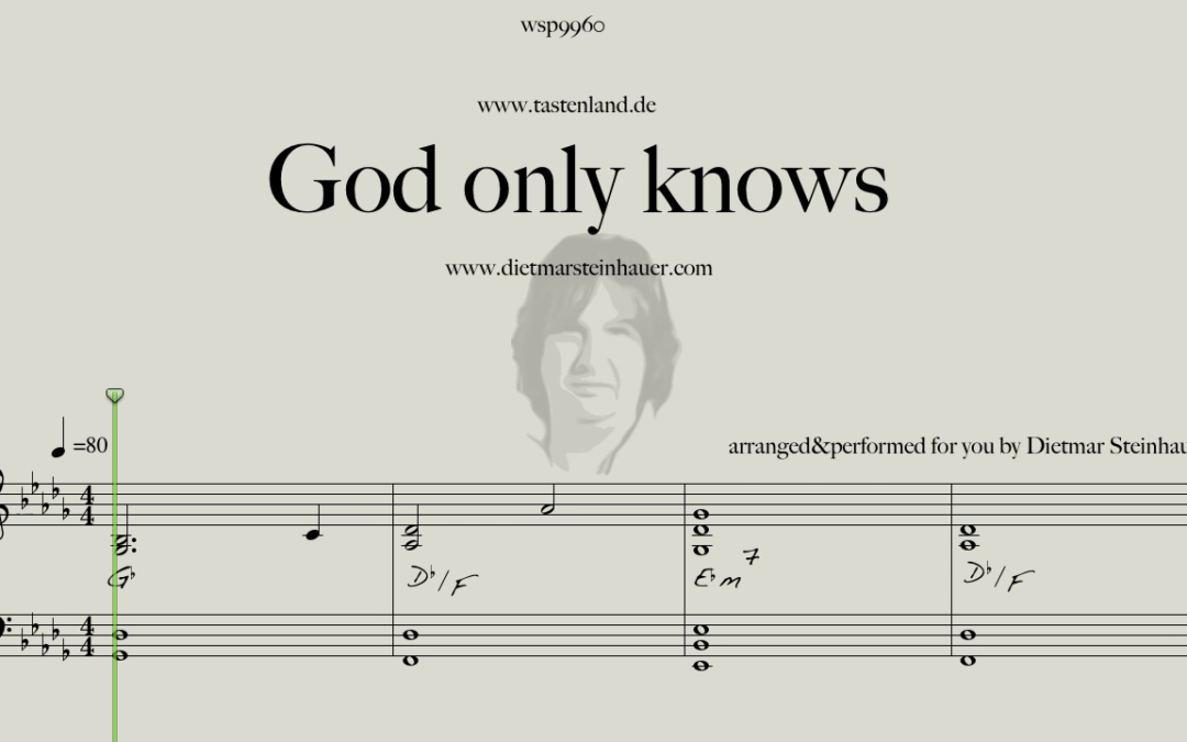 God only knows  –  Brian Wilson