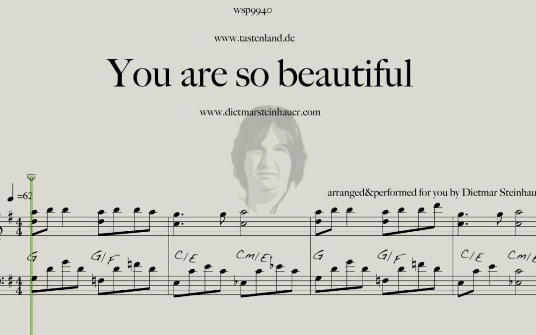 You are so beautiful  –  Easy Piano