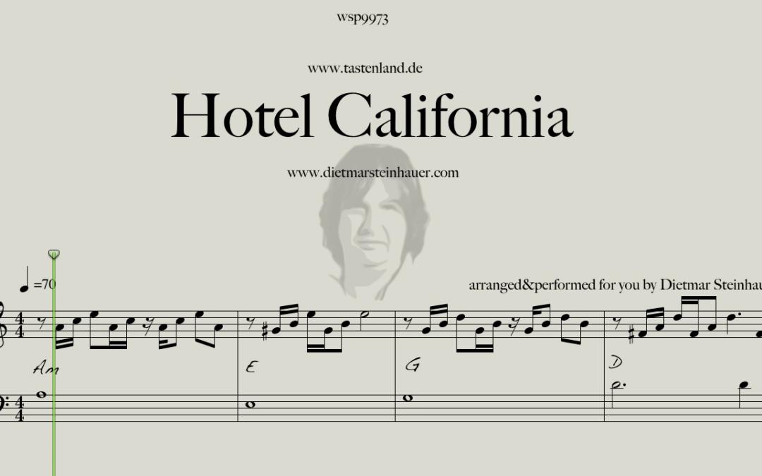 Hotel California  –  Easy Piano Version
